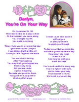 Quinceanera song lyric sheet page 1